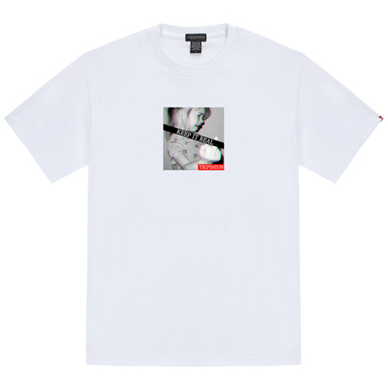 [TRIPSHION] KEEP IT REAL 2 T-SHIRT WHITE