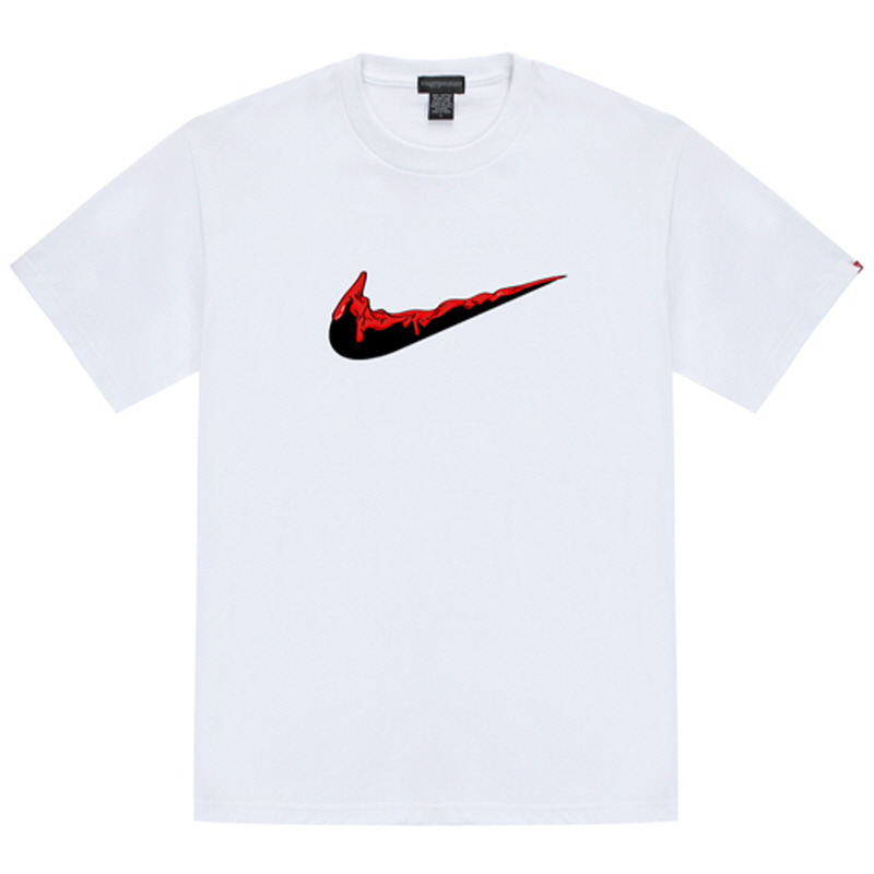 [TRIPSHION] RED BENDING TOOTHPASTE T-SHIRTS WHITE