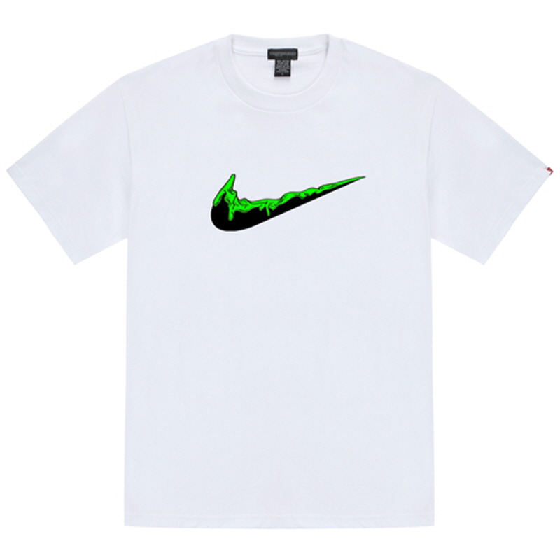 [TRIPSHION] GREEN BENDING TOOTHPASTE T-SHIRTS WHITE