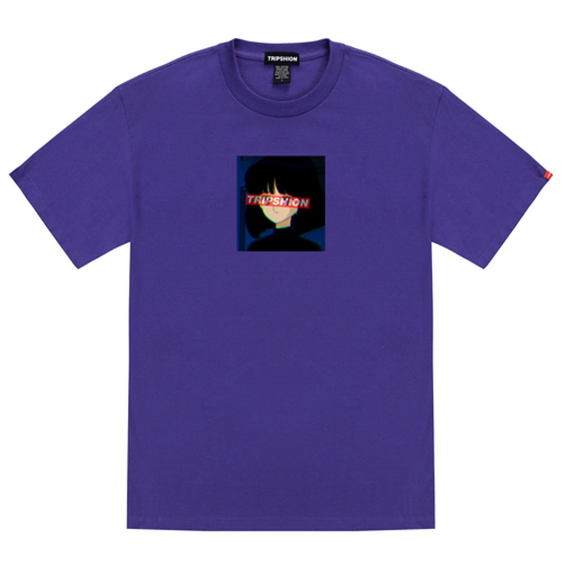 [TRIPSHION] GIRL SQUARE T-SHIRT PURPLE