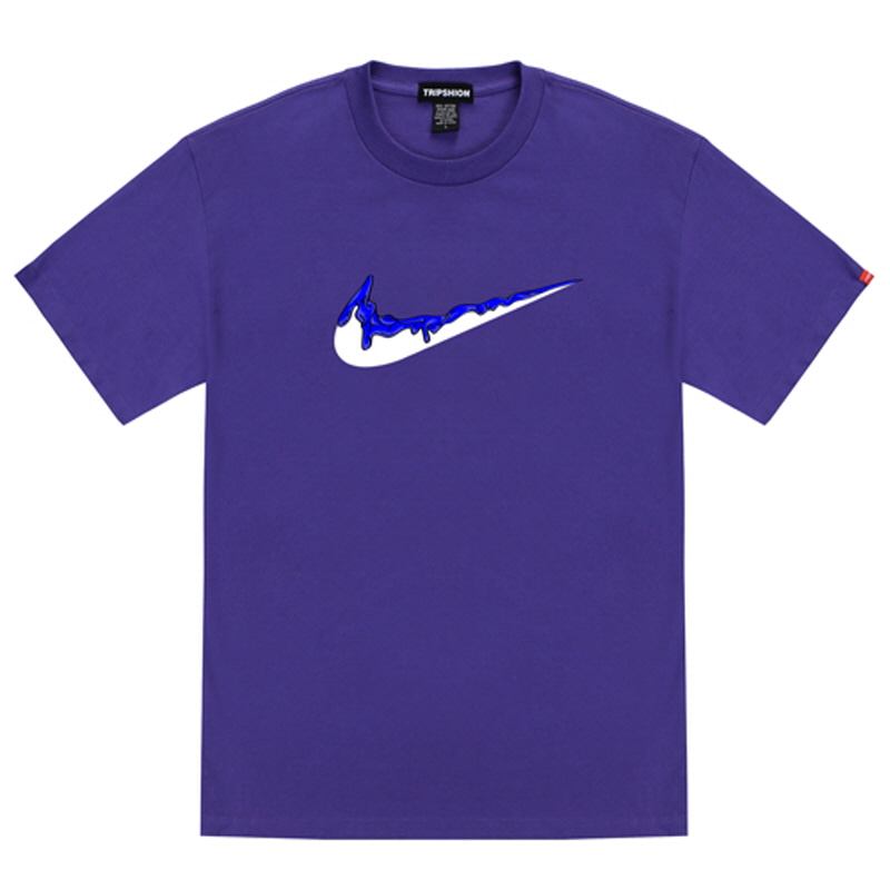 [TRIPSHION] BLUE BENDING TOOTHPASTE T-SHIRTS PURPLE