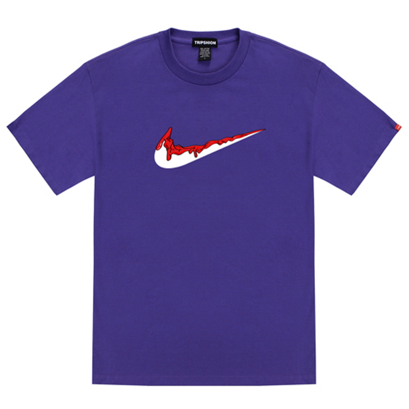 [TRIPSHION] RED BENDING TOOTHPASTE T-SHIRTS PURPLE