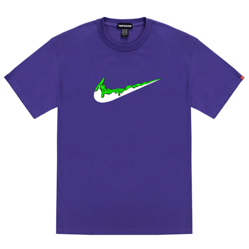 [TRIPSHION] GREEN BENDING TOOTHPASTE T-SHIRTS PURPLE