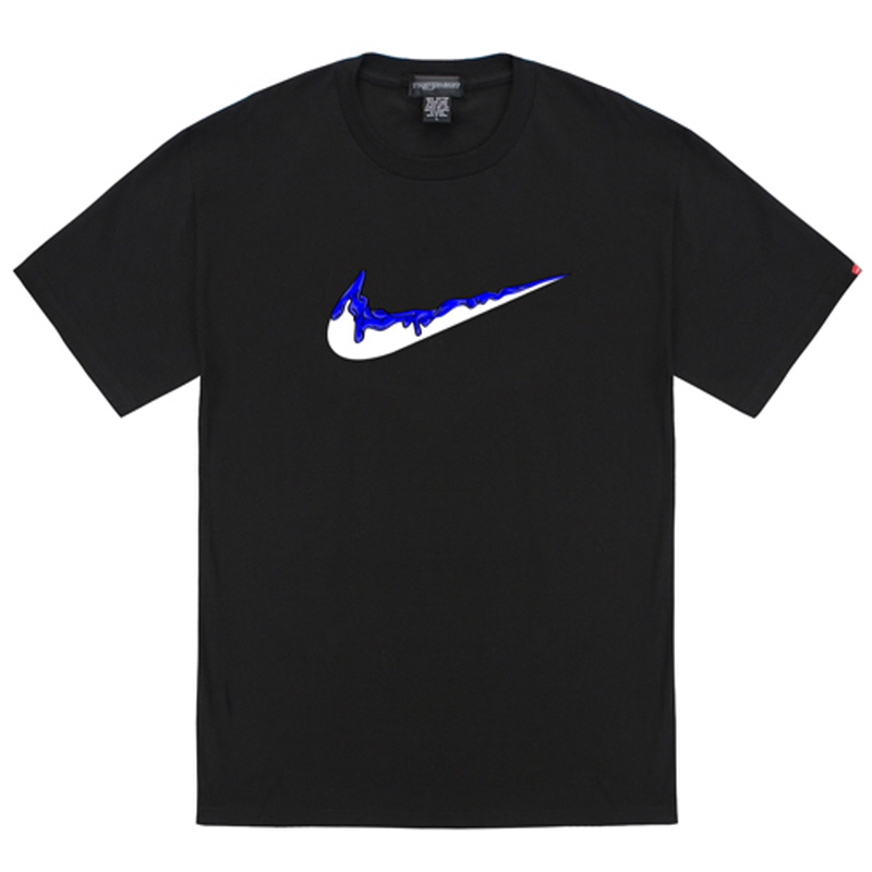 [TRIPSHION] BLUE BENDING TOOTHPASTE T-SHIRTS BLACK
