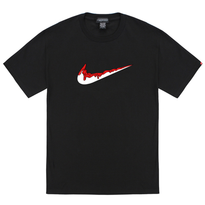 [TRIPSHION] RED BENDING TOOTHPASTE T-SHIRTS BLACK