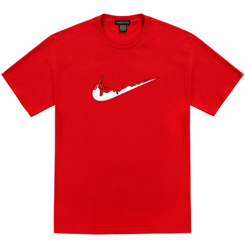 [TRIPSHION] RED BENDING TOOTHPASTE T-SHIRTS RED