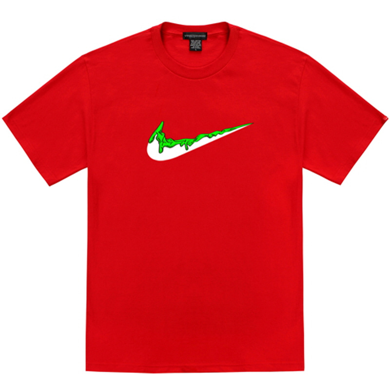 [TRIPSHION] GREEN BENDING TOOTHPASTE T-SHIRTS RED