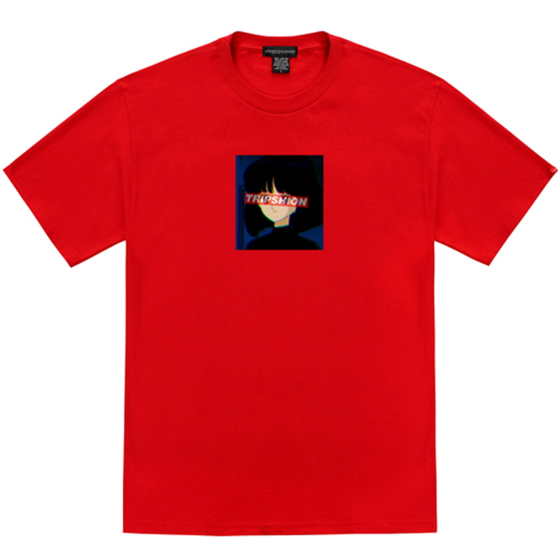 [TRIPSHION] GIRL SQUARE T-SHIRT RED