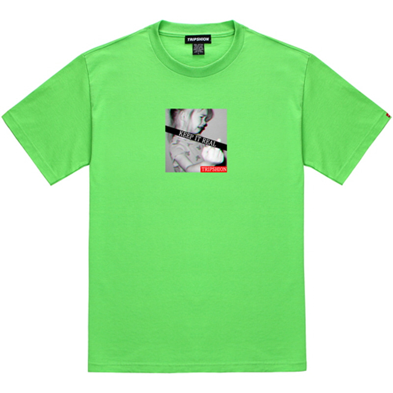 [TRIPSHION] KEEP IT REAL 2 T-SHIRT LIME