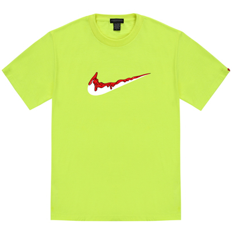 [TRIPSHION] RED BENDING TOOTHPASTE T-SHIRTS NEON GREEN