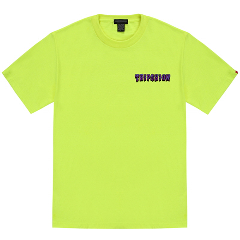 [TRIPSHION] PURPLE SLIME T-SHIRT NEON GREEN