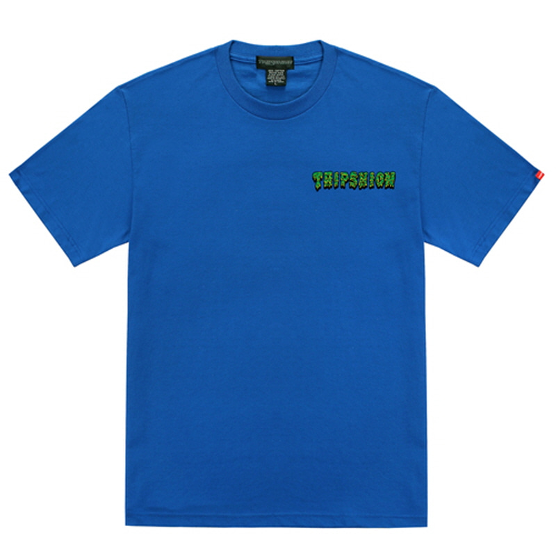[TRIPSHION] GREEN SLIME T-SHIRT BLUE