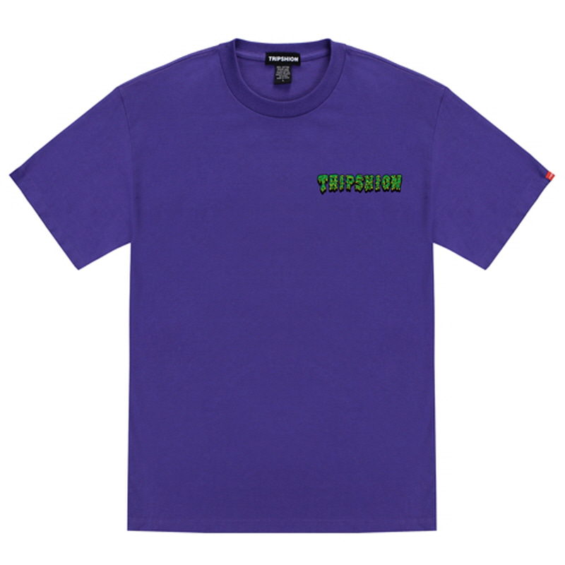 [TRIPSHION] GREEN SLIME T-SHIRT PURPLE