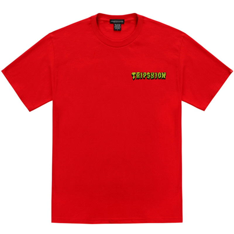 [TRIPSHION] LIME SLIME T-SHIRT RED