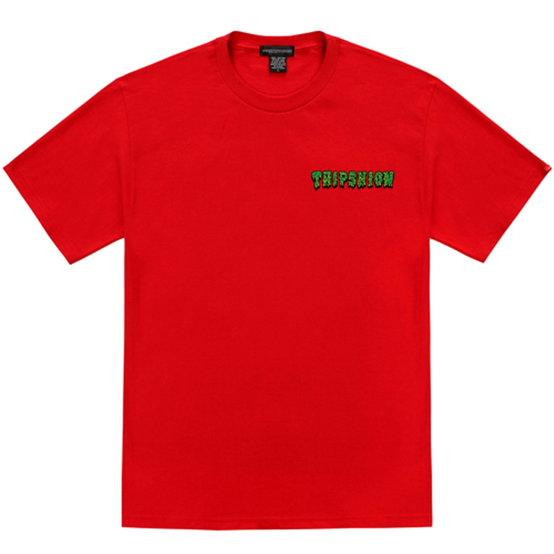 [TRIPSHION] GREEN SLIME T-SHIRT RED