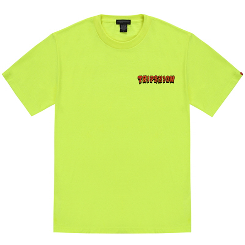 [TRIPSHION]RED SLIME T-SHIRT NEON GREEN