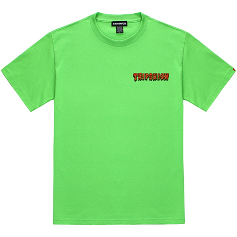 [TRIPSHION] RED SLIME T-SHIRT LIME