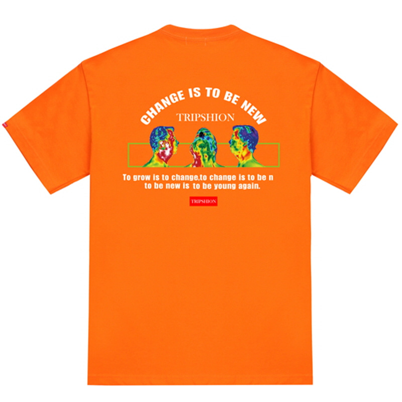 [TRIPSHION] TRIPLE X RAY T-SHIRT ORANGE