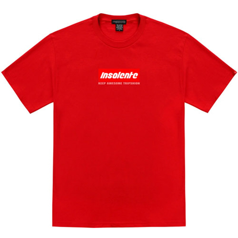 [TRIPSHION] INSOLENTE BOX LOGO T-SHIRT RED