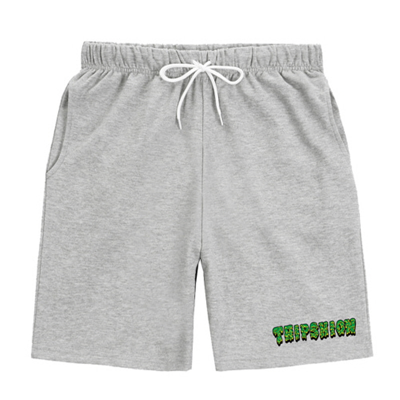 [TRIPSHION]GREEN SLIME PANTS GREY