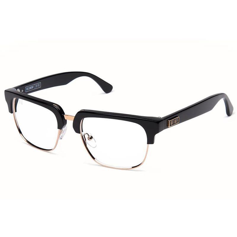 BELMONT BLACK & GOLD CLEAR LENS