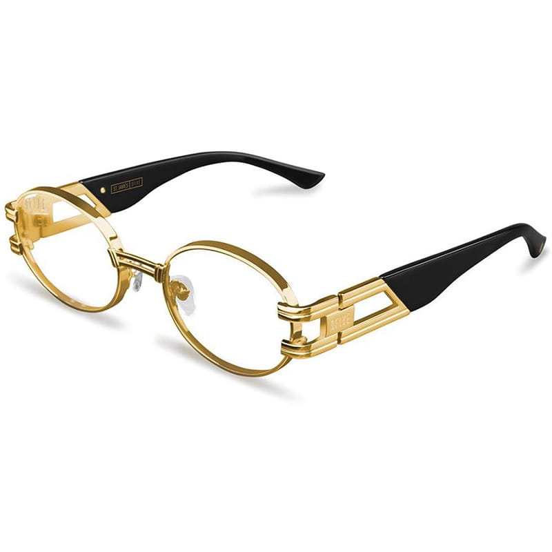 ST. JAMES BLACK & 24K GOLD CLEAR LENS GLASSES