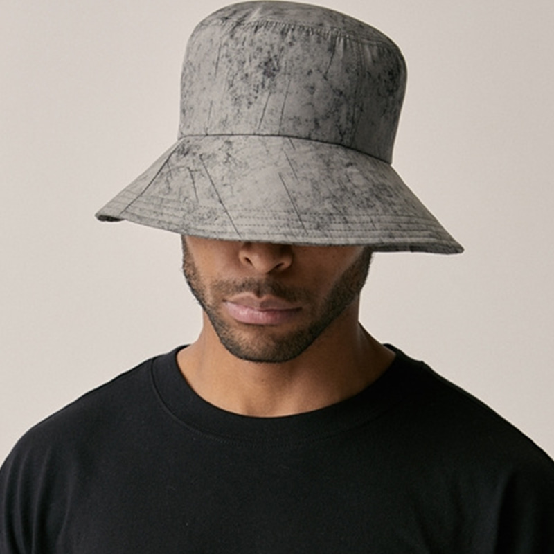 [OVERR] 18SU WATER WASHING GRAY BUCKET HAT