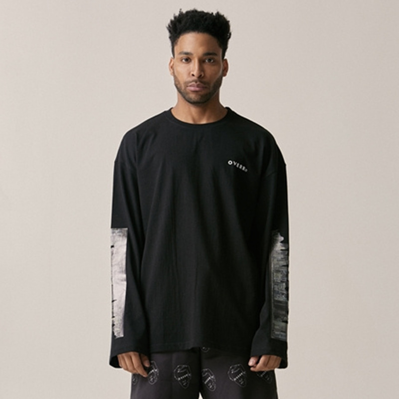 [OVERR] 18SU CITY BLACK LS TEE