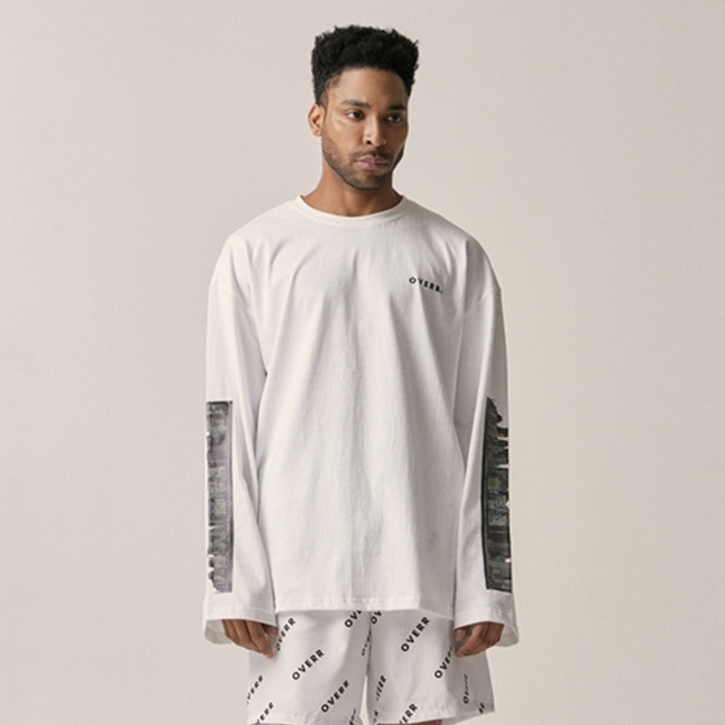 [OVERR] 18SU CITY WHITE LS TEE