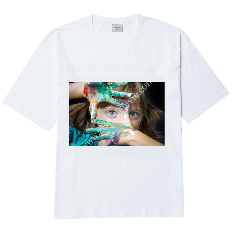 [ACME DE LA VIE] ADLV BABY FACE SHORT SLEEVE T-SHIRT (WHITE) 베이비 페이스 반팔 화이트 페인트