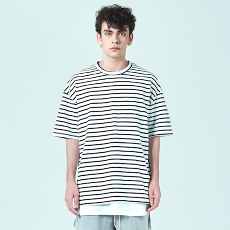 [DEADEND] WHITE STRIPE T-SHIRTS