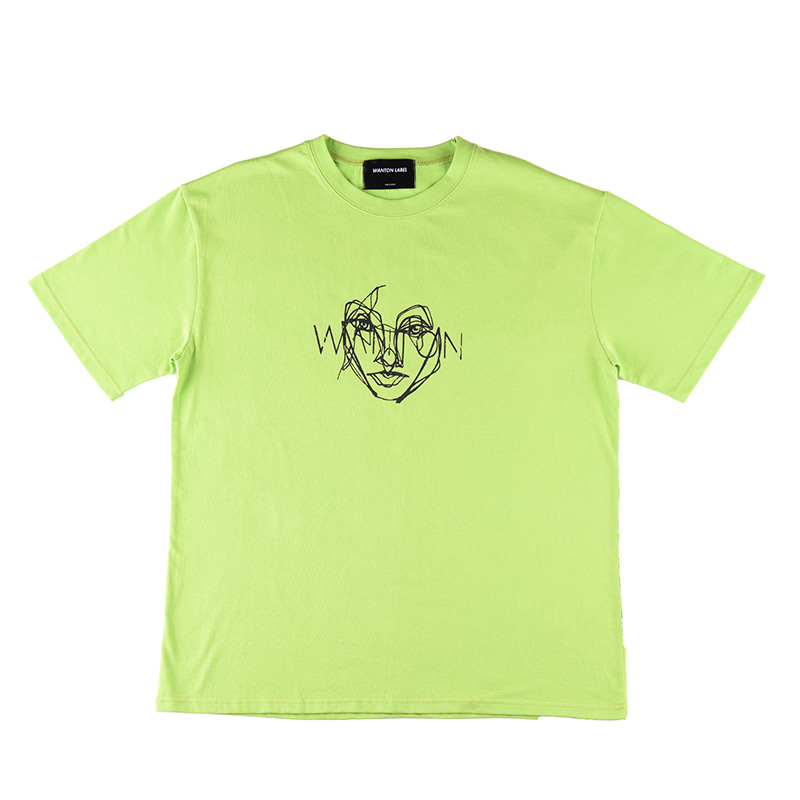 [WANTON] FACE TSHIRTS LIME