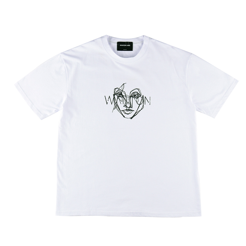 [WANTON] FACE TSHIRTS WHITE