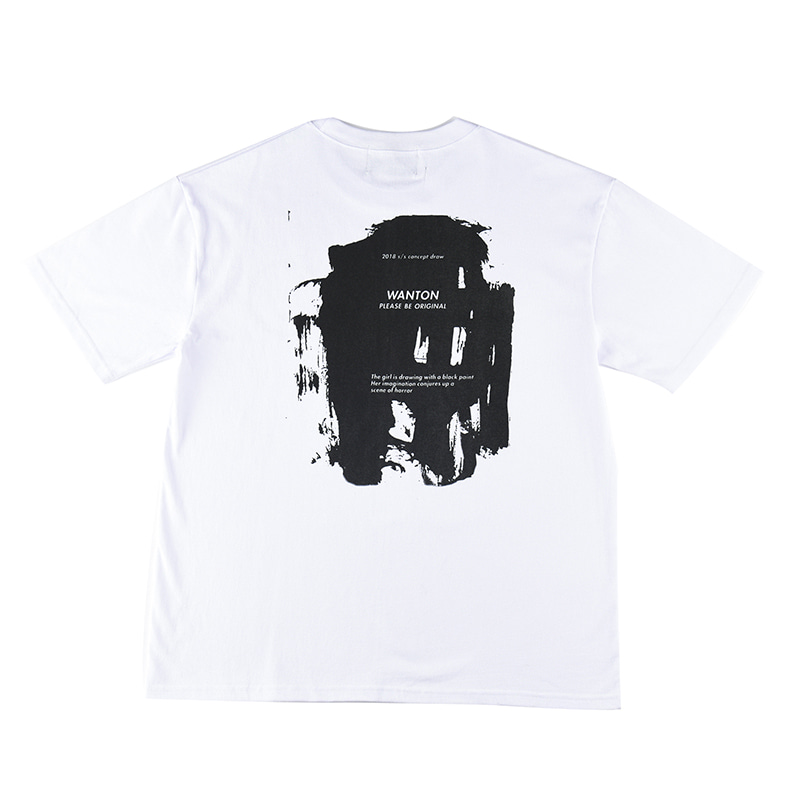 [WANTON] PAINT DRAW TSHIRTS WHITE