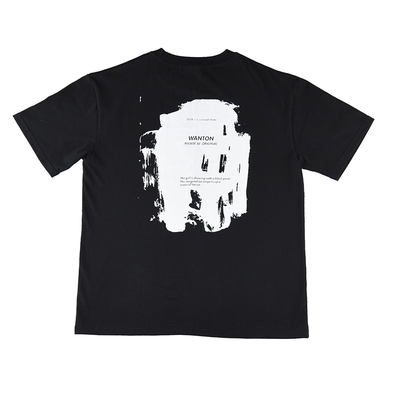 [WANTON] PAINT DRAW TSHIRTS BLACK