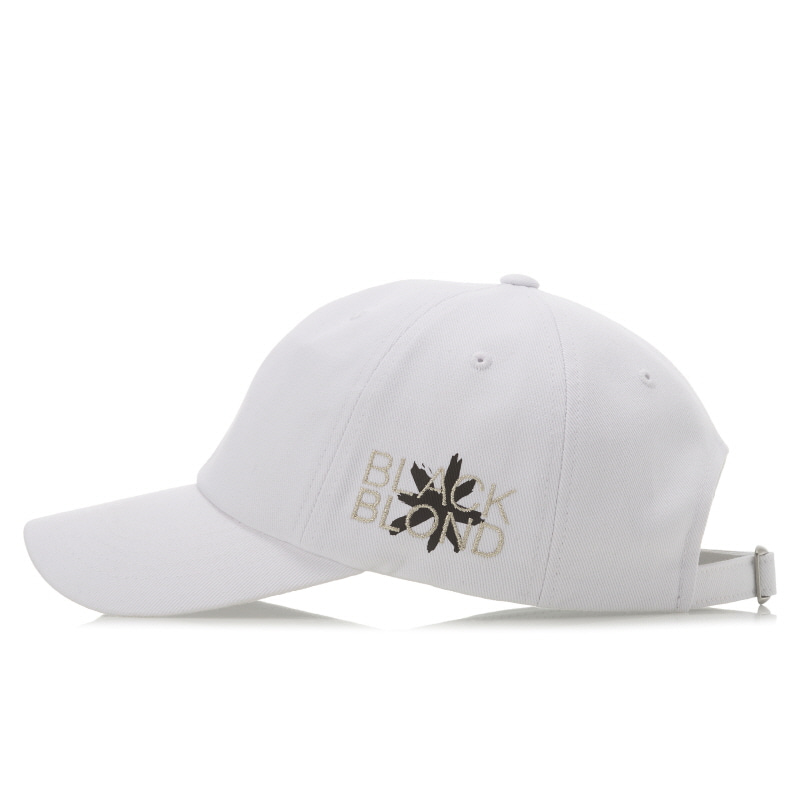 [BLACKBLOND] BBD SIDE LOGO CAP (WHITE)