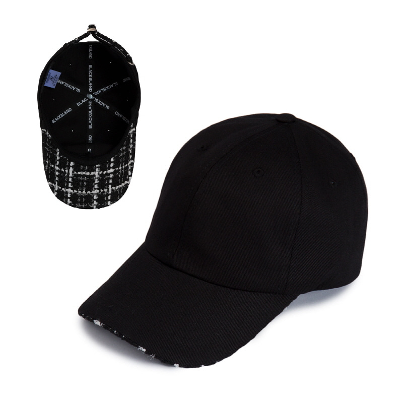 [BLACKBLOND] BBD TWEED CAP (BLACK)