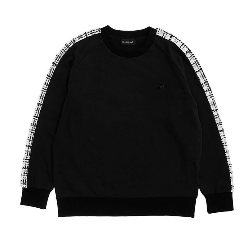 [BLACKBLOND] BBD TWEED SWEATSHIRT VER.1 (BLACK)