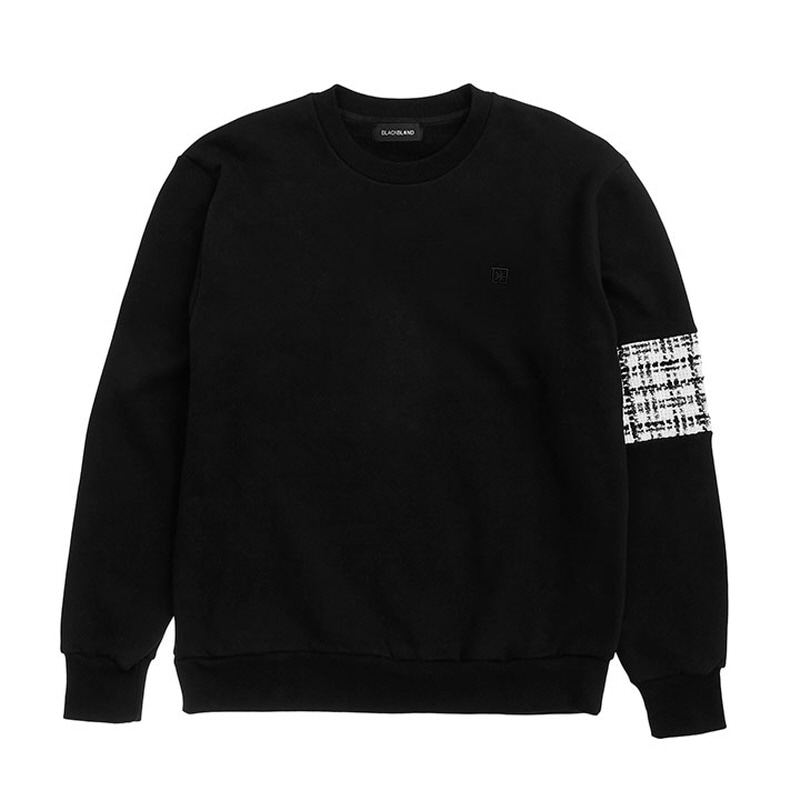 [BLACKBLOND] BBD TWEED SWEATSHIRT VER.2 (BLACK)