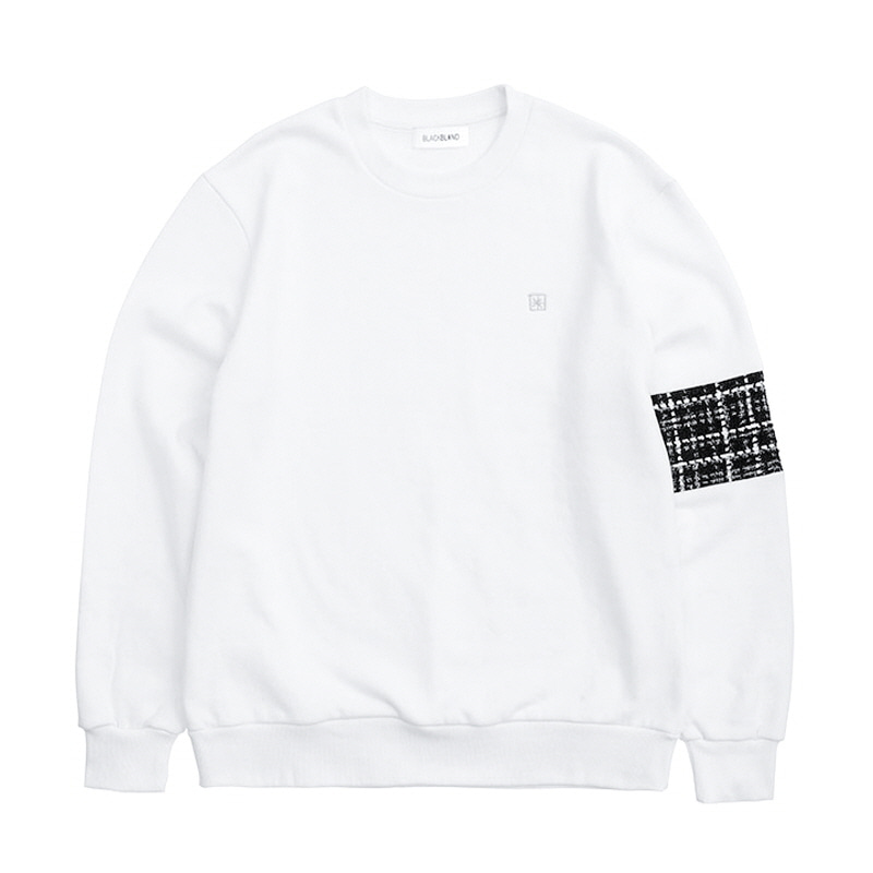 [BLACKBLOND] BBD TWEED SWEATSHIRT VER.2 (WHITE)