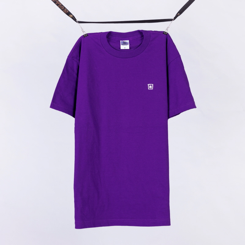 [BLACKBLOND] BBD BASIC STAR LOGO TEE (PURPLE)