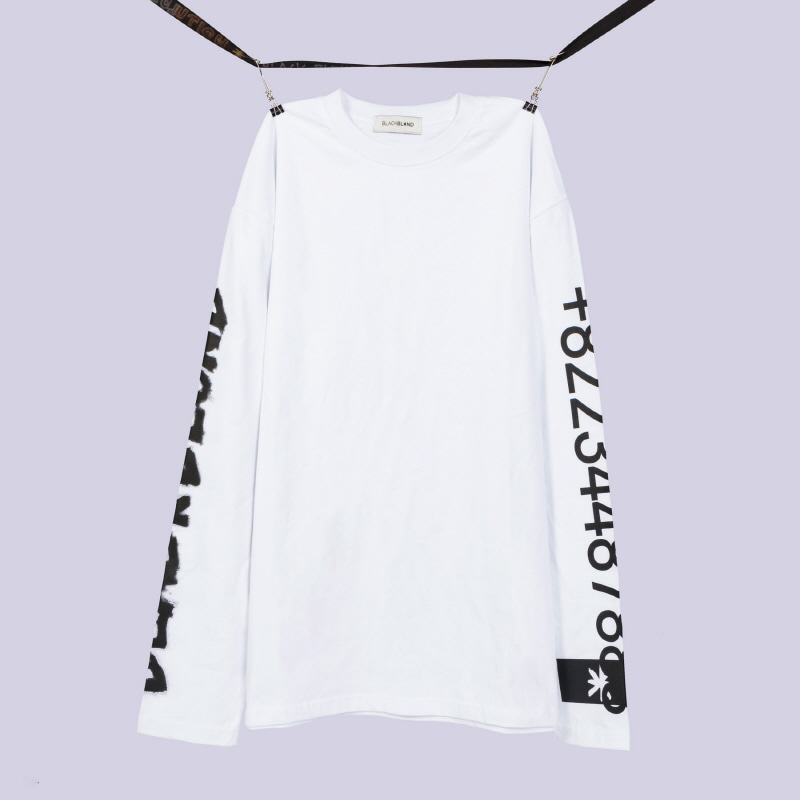 [BLACKBLOND] BBD GRAFFITI NUMBER TEE (WHITE)