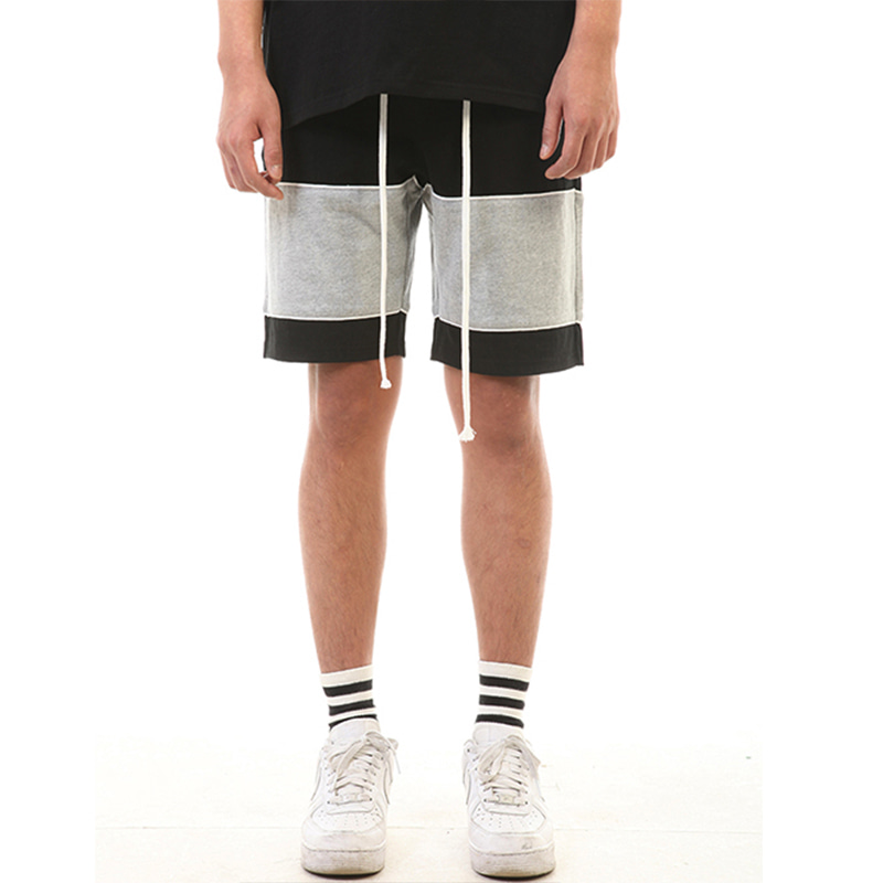 [SUMMER SALE 20% OFF] [LANG VERSIO] PIPING 1/2 PANTS (BLACK/GRAY)