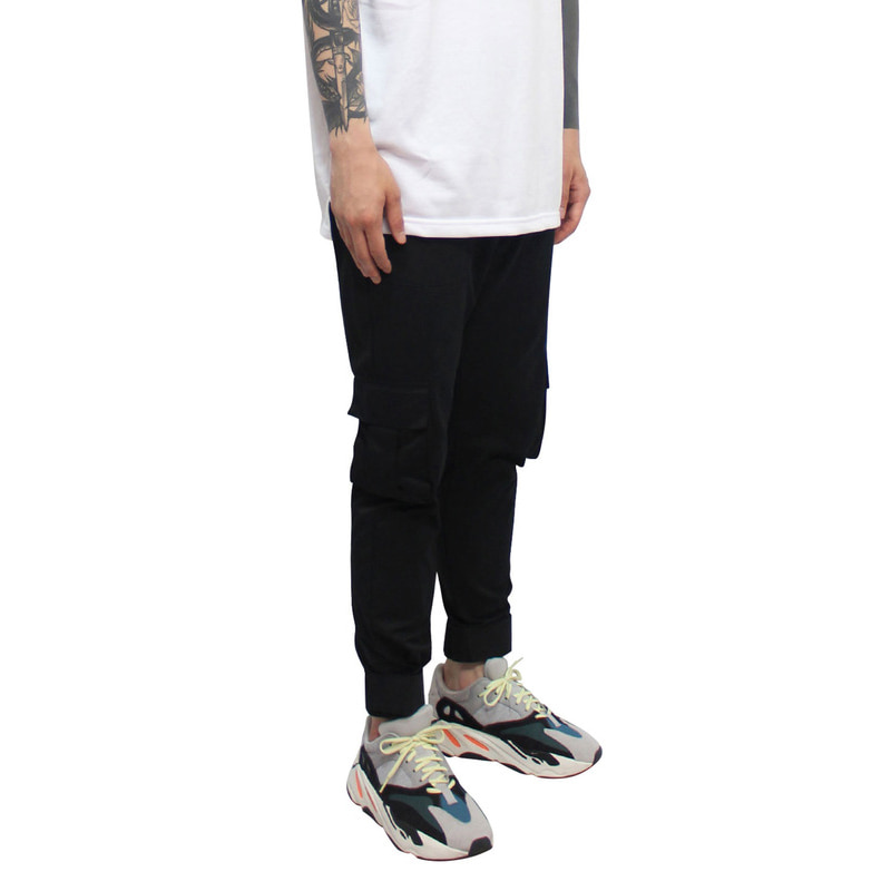 [CLACO] VELCRO MILITARY PANTS (BLACK)
