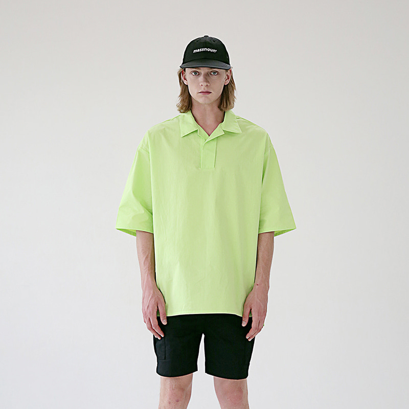 [MASSNOUN] HALF NECK SUBJECT SHORT SHIRTS MSEST005-LG