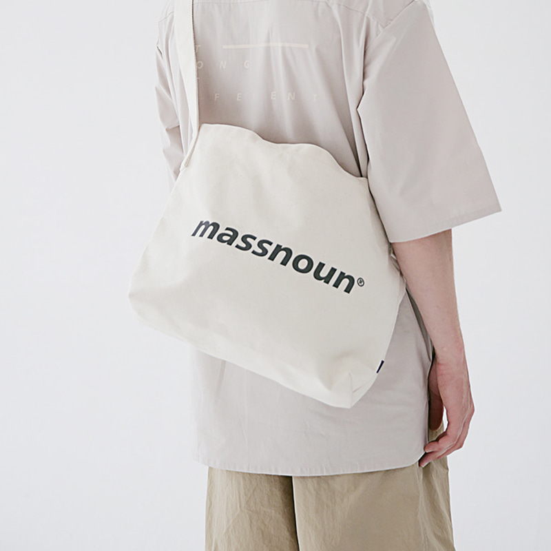 6/29 배송[MASSNOUN] SL LOGO 2WAY ECO BAG MSEAB001-IV