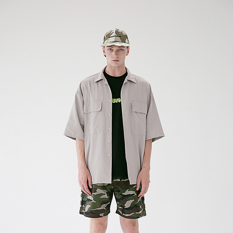 [MASSNOUN] TWO POCKET SOFT OVERSIZED SHIRTS MSEST006-BG