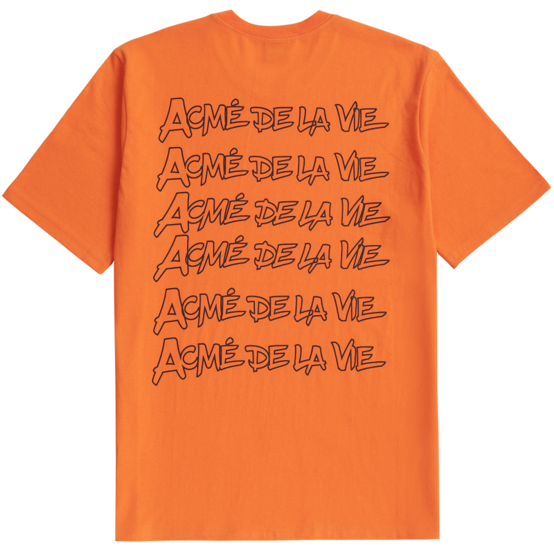 [ACME DE LAVIE] ADLV HANDWRITHING SHORT SLEEVE T-SHIRT ORANGE 펜글씨 반팔 오렌지