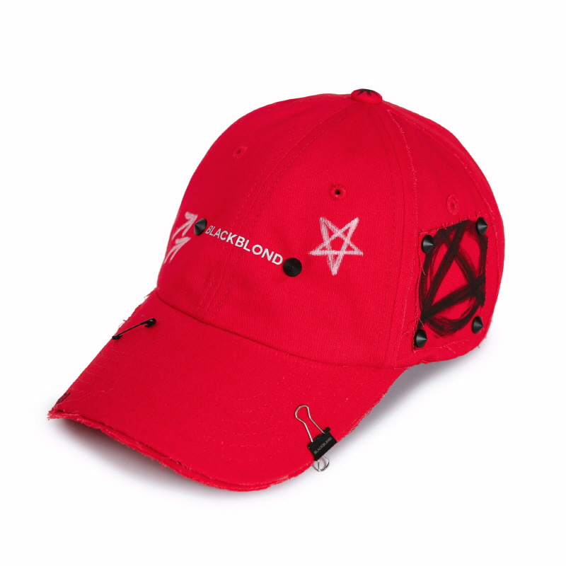 [BLACKBLOND] BBD REFLECTION LOGO NO SYMPATHY CAP (RED)