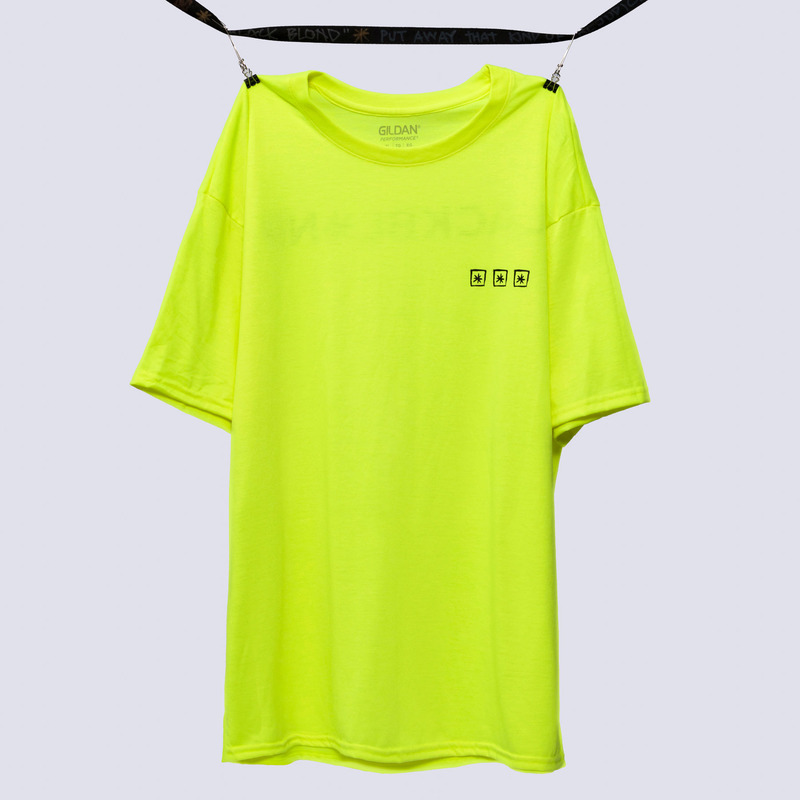 [BLACKBLOND] BBD THREE STARS REFLECTION LOGO TEE (NEON)
